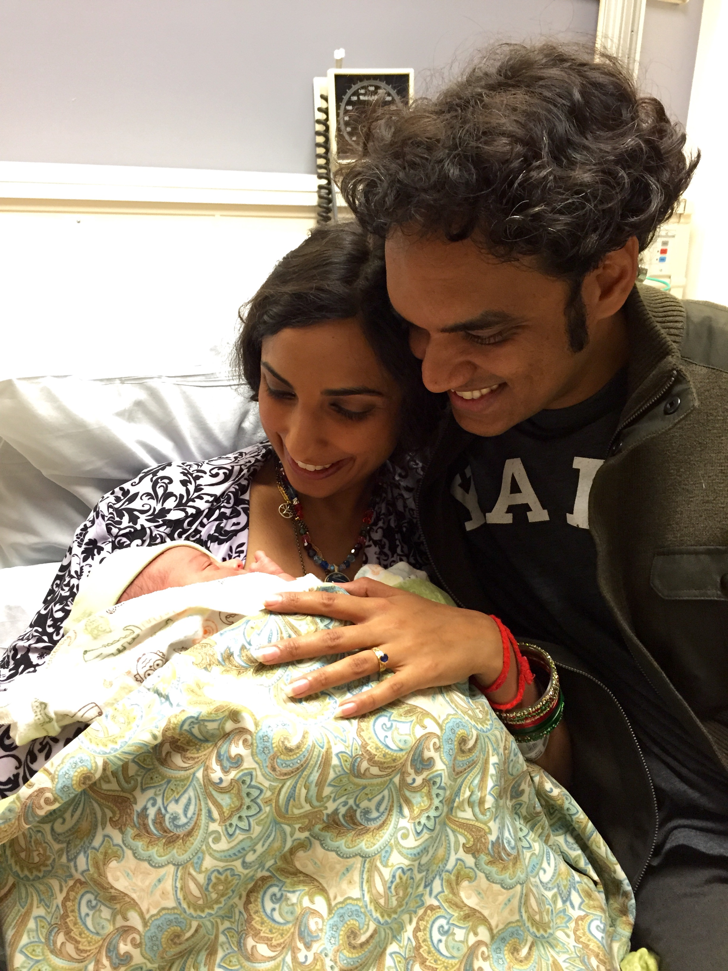 Valarie and Sharat with Kavi