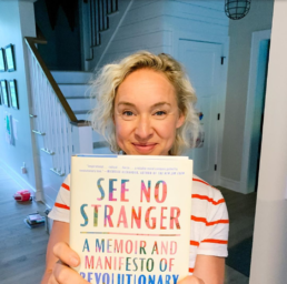Kate Northrup with See No Stranger book